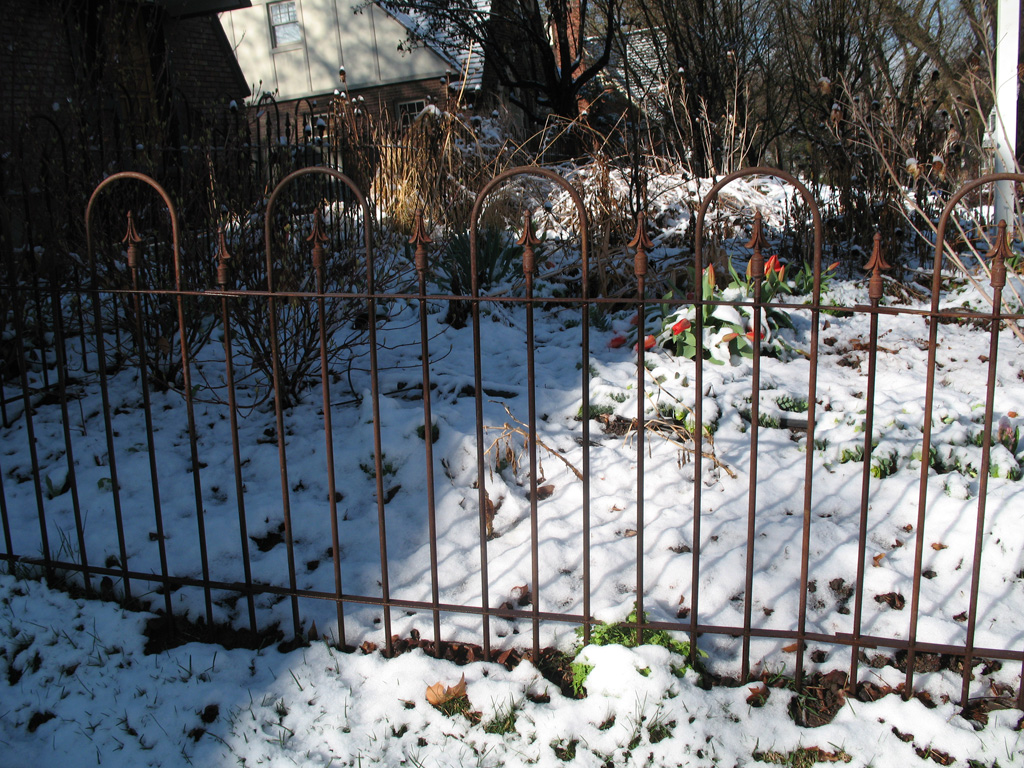Spear-Top Single Rail Fences - The Iron Anvil - Salt Lake City, Utah