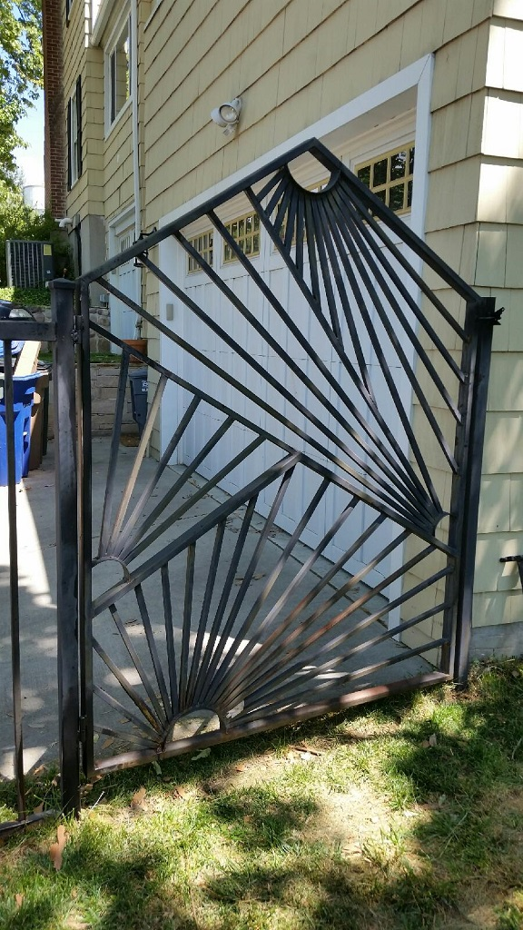 69-0068-Iron-Anvil-Gates-Man-Arch-MODERN-GATE-IN-AVENUES-by-others-99-