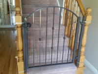 61-0131-Iron-Anvil-Gates-Man-Arch-FISCHER-18994-FRASIER-19003-GATE-AT-WOOD-POST-AT-STAIRS-99-