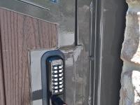61-0249-Iron-Anvil-Gates-Man-Arch-ANDERSON-27545-TREX-GATE-PUSH-BUTTON-LOCK-399
