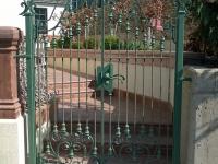 61-0872-Iron-Anvil-Gates-Man-Arch-KELLER-BACK-GATE-DOUBLE-199