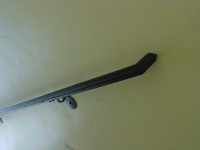 30-4042- iron-anvil-handrails-wall-mount-molded-cap-return-to-wall- 2""