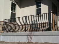 iron-anvil-railing-belly-rail-single-top-flat-bar-gold-medallion