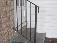 10-0120-Iron-Anvil-Railing-Single-Top-Simple-tube steel-Assit-