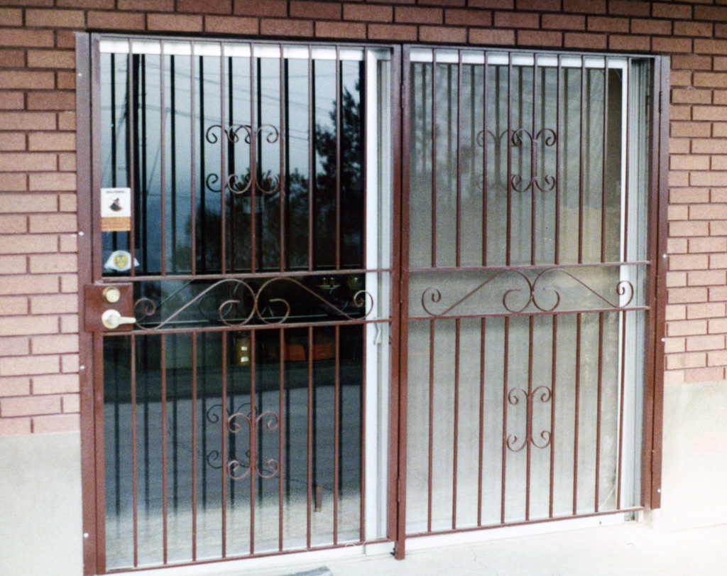 iron-anvil-security-doors-double-sliding-door-a & Security - Window Grates Window Guards Doors - The Iron Anvil - Utah Pezcame.Com